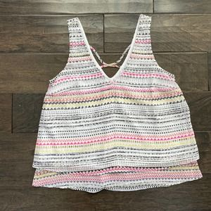 Candie's Striped Tank Top Size Small